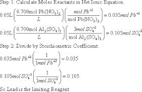 chem 1300 solution stoichiometry key