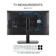 amazon com fitueyes universal tv stand base tabletop tv stand