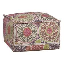 Pouf Ottomans Nest Square Pouf Ottomans Crate And Barrell Furniture