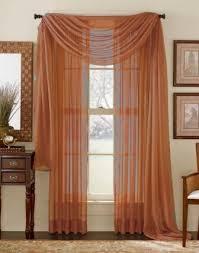 Rust Color Curtains Rust Sheer Panel Moshells