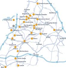 map uk villages visiting the cotswolds from how where