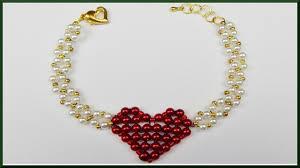 beaded heart bracelet images Diy valentinstag herz armband aus perlen basteln valentines jpg