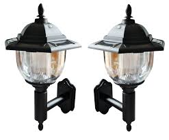 Solar Powered Wall Lights Uk - 2 x victorian solar powered led wall lights lantern lamp amazon