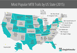 Virginia Mountains Map by The Top Mountain Bike Trails In The Usa State By State