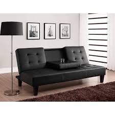Sofa Bed Julia Cupholder Convertible Futon Multiple Colors Walmart Com