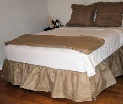 burlap bedskirt the domestic doozie the 15 minute 15 dollar nosew
