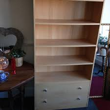 Mahogany Effect Bookcase Lovely Light Beech Effect Bookcase With Drawers In Edinburgh