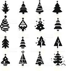 christmas tree vector art collection 68