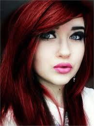 hair colour trends 2015 unique emo dark red hair color 2015 trends with heavy bangs and