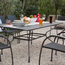Stackable Wicker Patio Chairs Ludwig 7 Piece Outdoor Dining Set With Stacking Wicker Chairs