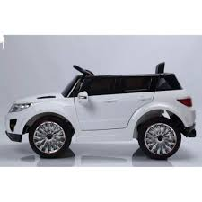 land rover kid 12v range rover style kids ride on car white with power steering