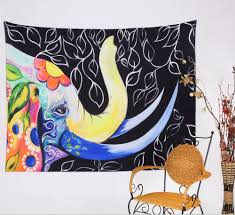 cilected india elephant tapestry gobelin home decor wall hanging