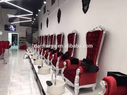 luxury nail salon equipment pedicure chair platform with basin