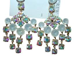 Chandelier Earings J Crew White Chandelier Earrings Tradesy