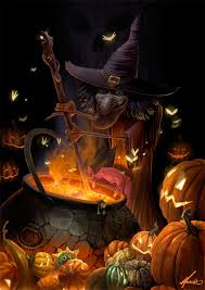 Halloween Art Magical Witch U0026 Cauldron Magic Eye Pinterest