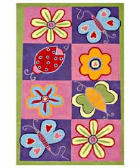 woven bright kids butterflies pink blue green yellow and