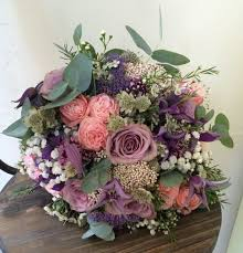 wedding flowers sheffield gorgeous bridal bouquet mixed flowers and textures mauve purple