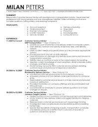Resume Examples Customer Service Resume by Service Advisor Resume Sample Customer Service Resume Sample