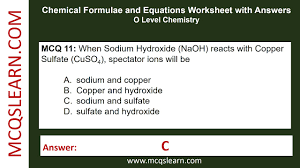 chemical formulae and equations worksheet with answers mcqslearn