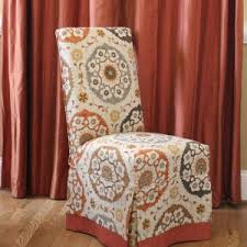Luxury Dining Chair Covers Decor Lovely Parsons Chair Slipcovers For Your Dining Room Design
