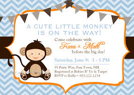 baby shower monkey monkey baby shower invitations best invitations card ideas