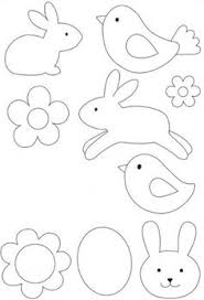 rabbit writing frame template templates pinterest writing
