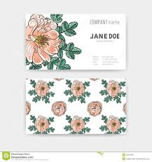 floral business card floral color business cards stock vector image 55534926