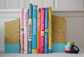 Unusual Bookends 23 Lovely Diy Bookends To Adorn Your Shelves
