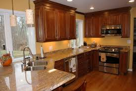 kitchen good looking dark cherry kitchen cabinets wall color