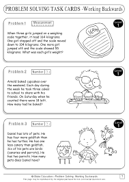 here u0027s a packet with a series of task cards on the