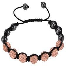 adjustable bead bracelet images Light peach handmade adjustable round bead bracelet deco ball bead jpg