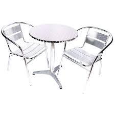 chaise bistrot alu chaise aluminium bistro chaise de terrasse aluminium ext table