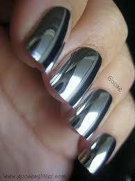 liquid silver nail polish nail bliss silver chrome nails