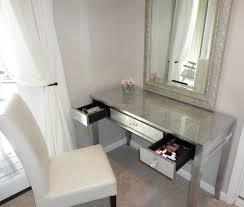 corner makeup vanity dark wood makeup vanity in master bathroom