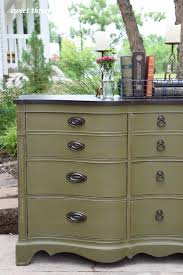 buffet makeover olive chalk paint sweetthreepeats