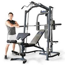 marcy mp3100 smith machine press home multi gym with adjustable