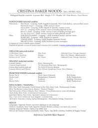 resume formats samples audition resume format resume format and resume maker audition resume format audition resume templates sample audition resumes honney resume within dance resume template sample