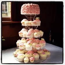 wedding cupcake tower wedding cupcake tower with ruffle cake crumbs couture cupcakes