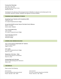 Graduated With Honors Resume Sample Resume Format For Fresh Graduates Two Page Format