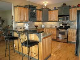 Grey Wood Kitchen Cabinets Modern Kitchen Design Featuring Solid Pine Wood Kitchen Cabinets