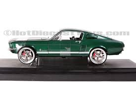 Mustang Black And Green Ertl Joyride The Fast And The Furious 1967 Ford Mustang Gt 1 18