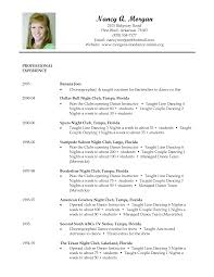 Job Resume Format Word by Dance Resume Template Resume For Your Job Application