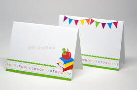 themed place cards back to school themed place cards bookworm and pennant