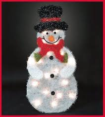 Lighted Snowman Outdoor Christmas Decorations by Xmas Collection On Ebay