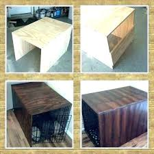 dog kennel side table crate side table rolling rectangle wood crate coffee table wood