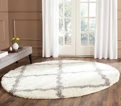 grey u0026 white shag montreal trellis shag rug safavieh