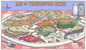 incidental comics map of thanksgiving dinner