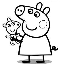 peppa pig da colorare per bambini