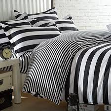 White Queen Size Duvet Cover Amazon Com Ttmall Twin Full Queen Size Cotton 4 Pieces Black