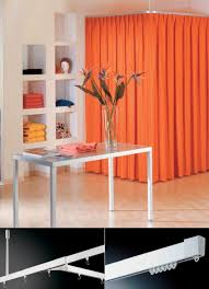 drape curtain track commercial room divider for showers